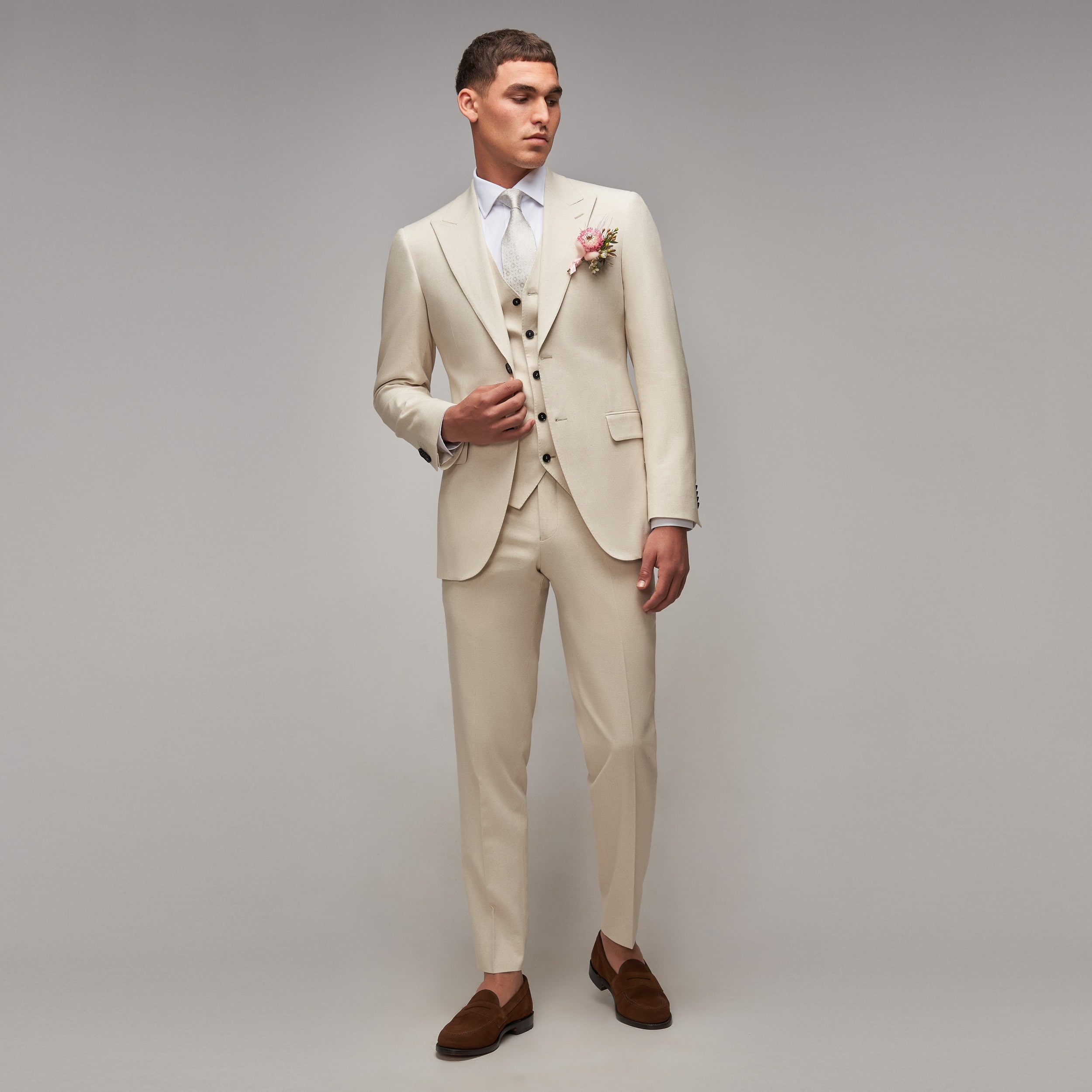 Brent Wilson Cream White Wedding Suits Collection