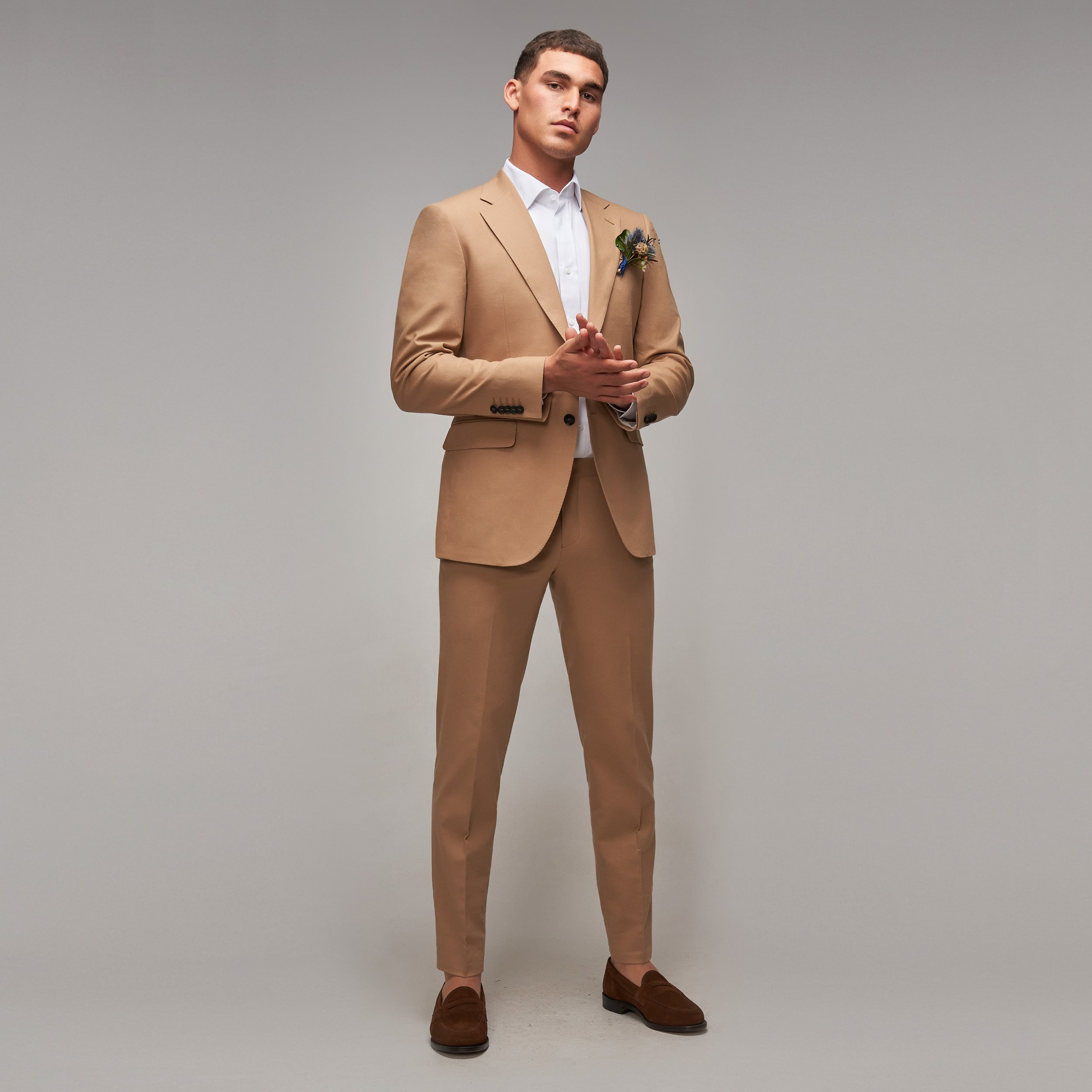 Brent Wilson Light Brown Wedding Suits Collection