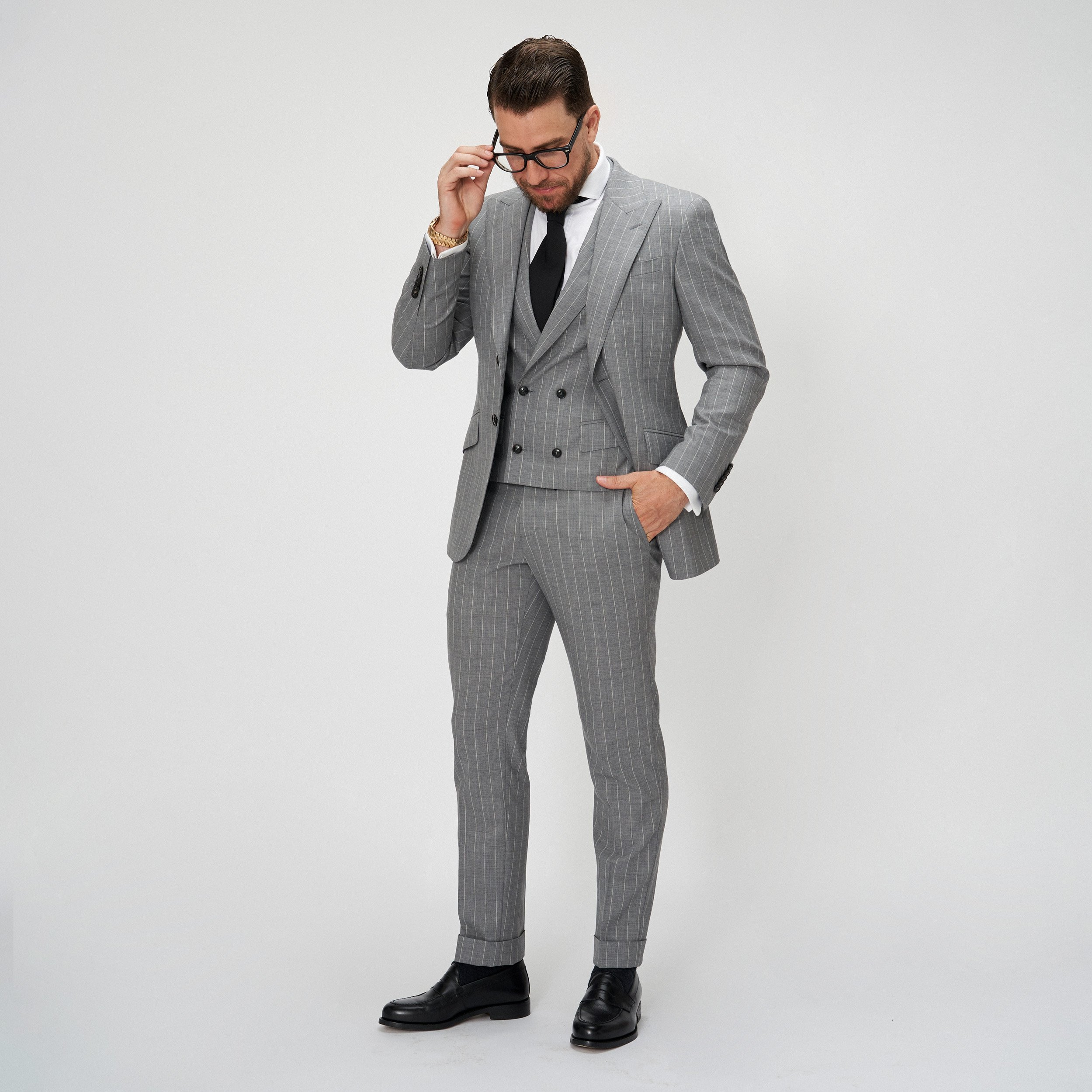 Brent Wilson Grey Two Piece Business suits Collection