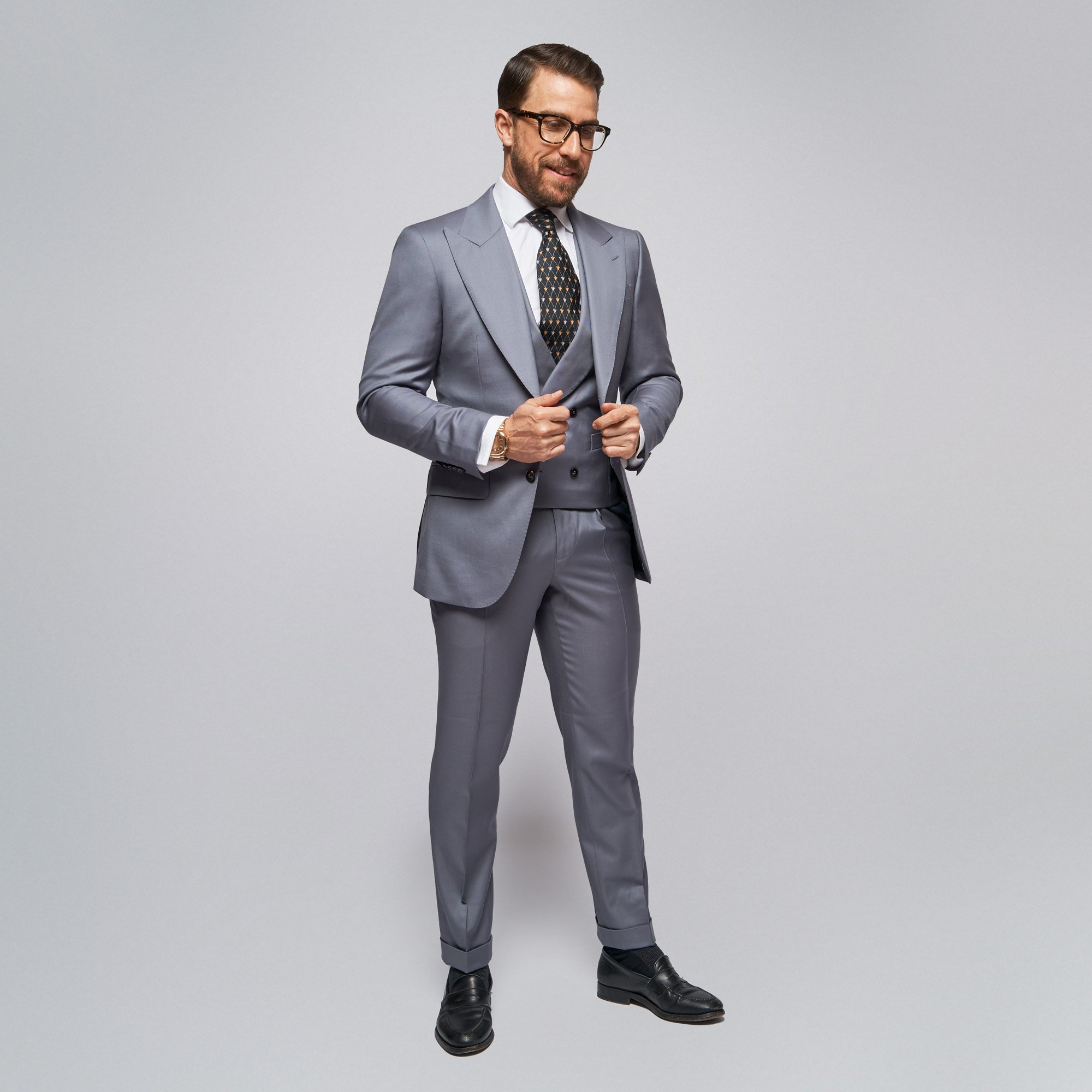 Brent Wilson Light Dark Silver Business suits Collection