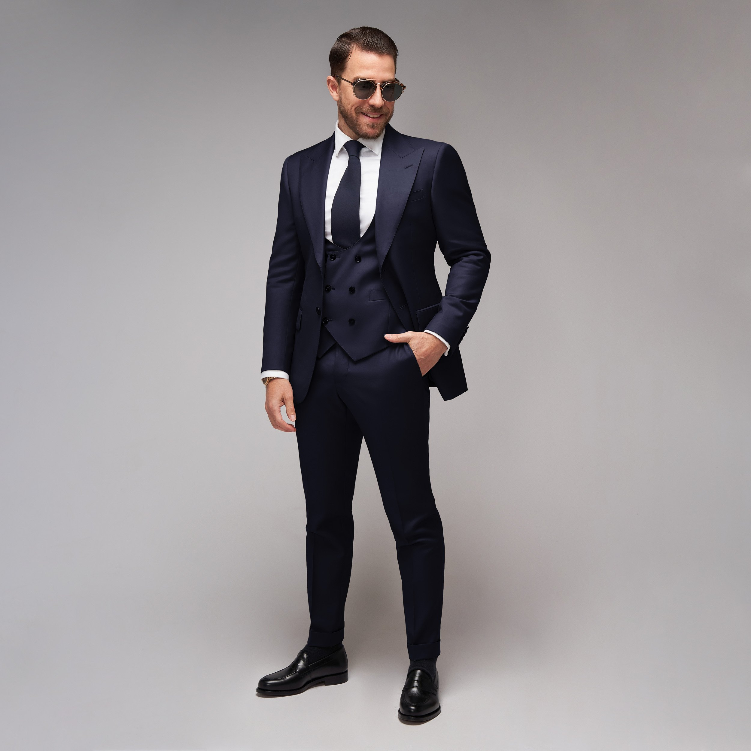 Brent Wilson Navy Blue Business suits Collection