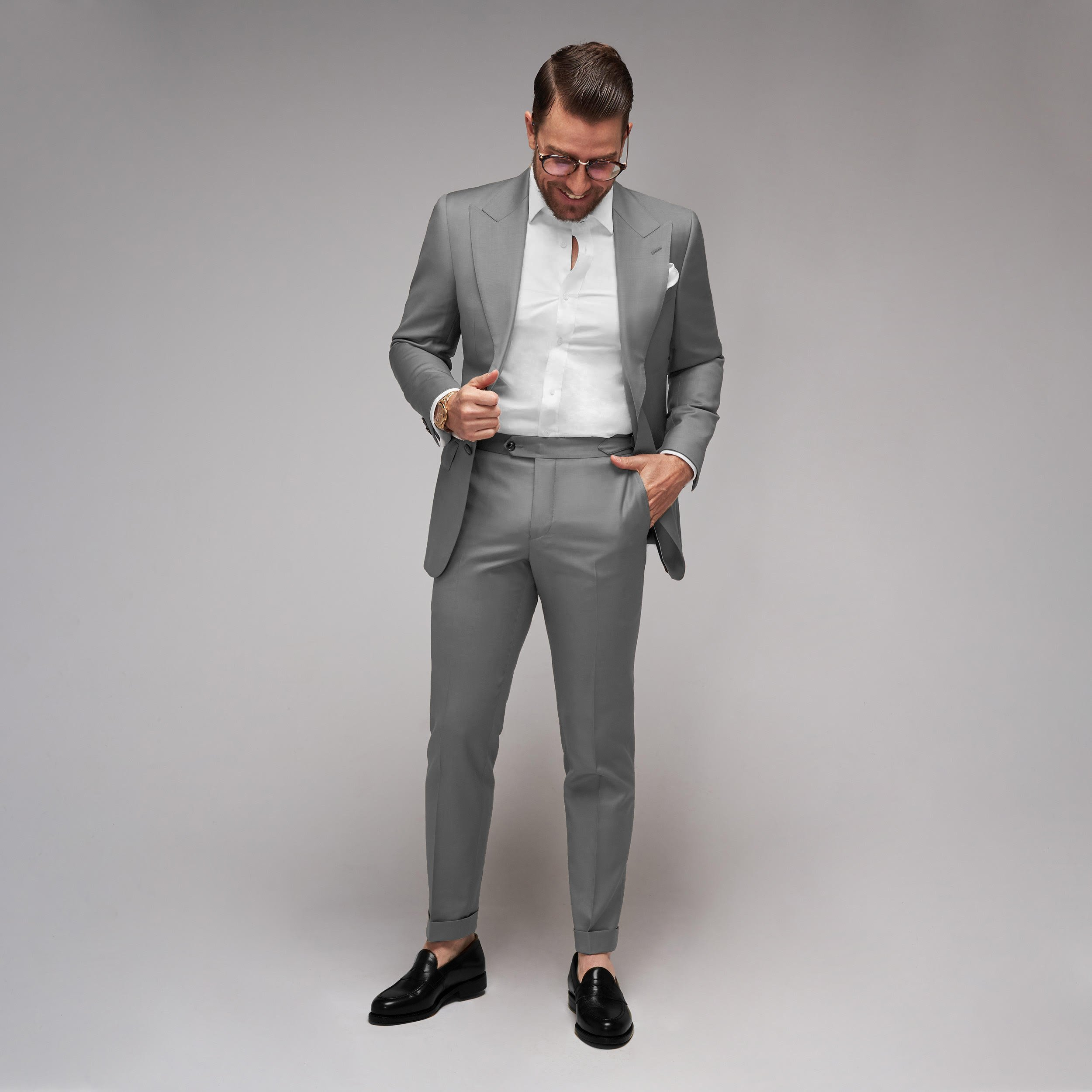 Brent Wilson Grey Business suits Collection