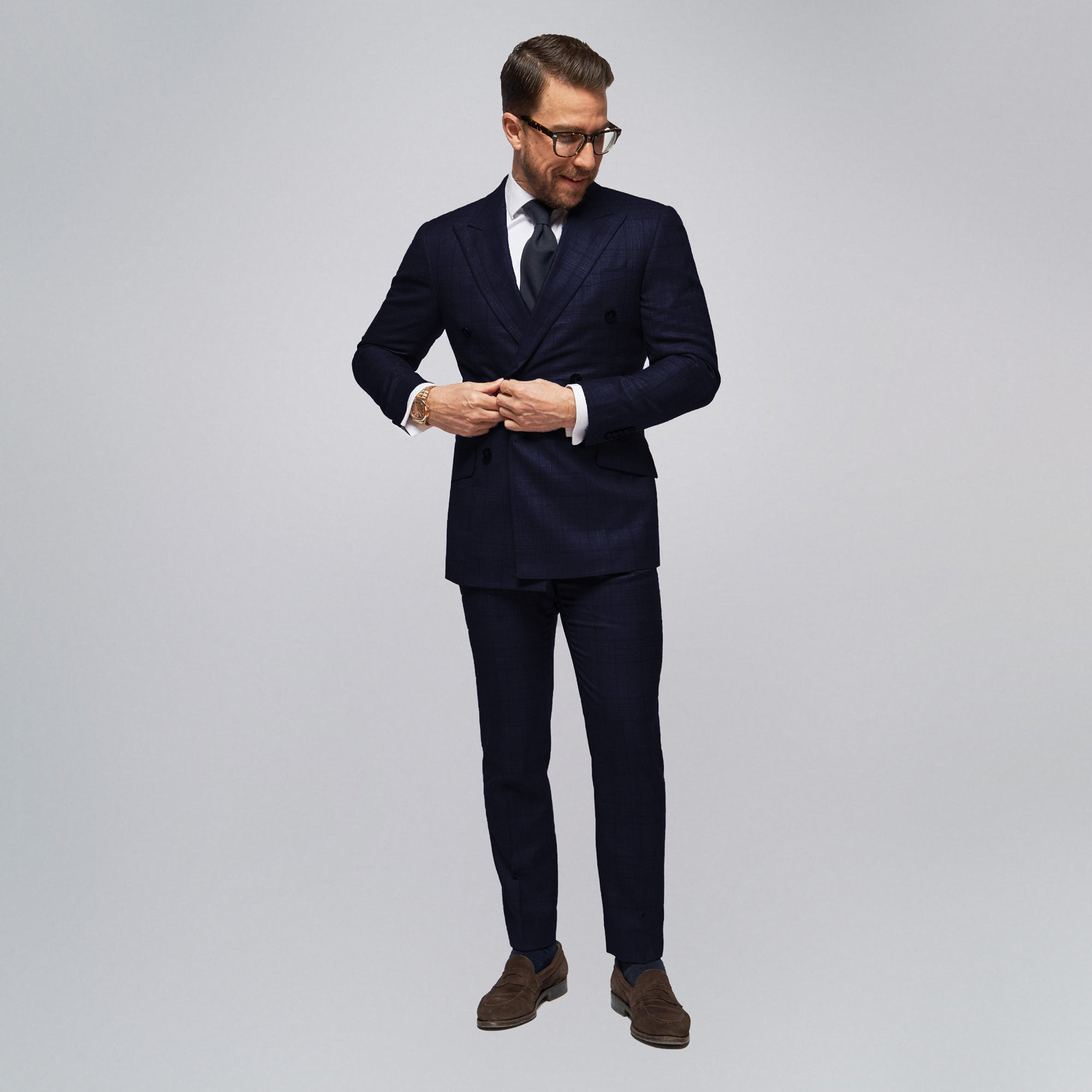 Brent Wilson Dark Navy Blue Business suits Collection